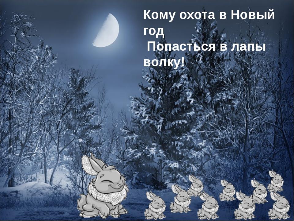Кому охота в Новый год Попасться в лапы волку!