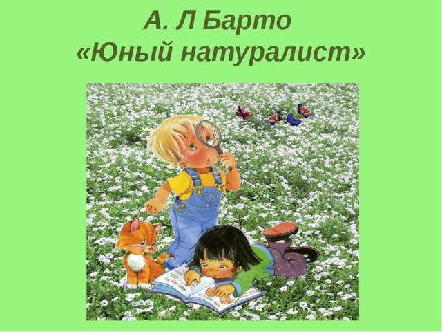А. Л Барто «Юный натуралист»