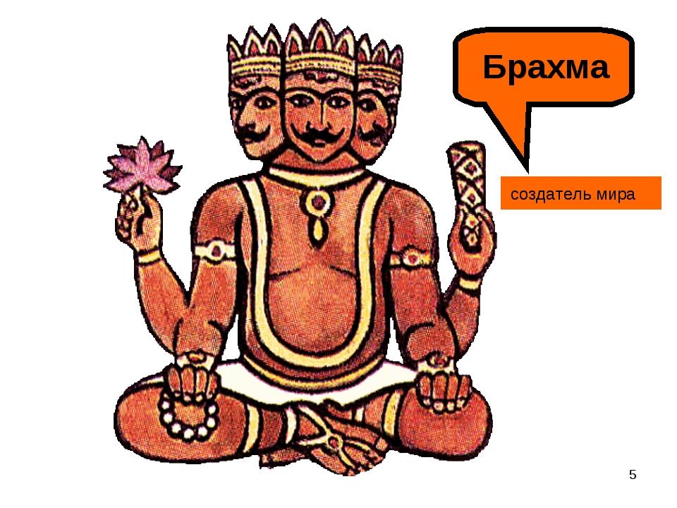 * Брахма создатель мира