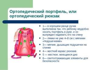 Ортопедический портфель, или ортопедический рюкзак 1— в хорошем ранце ручка в