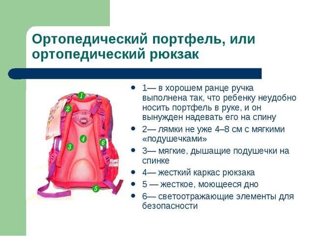 Ортопедический портфель, или ортопедический рюкзак 1— в хорошем ранце ручка в...