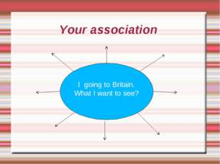 Your association I going to Britain. What I want to see?