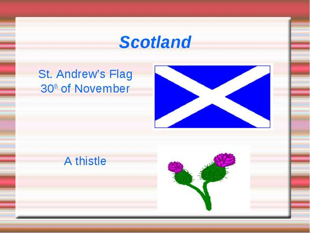 Scotland St. Andrew's Flag 30th of November A thistle