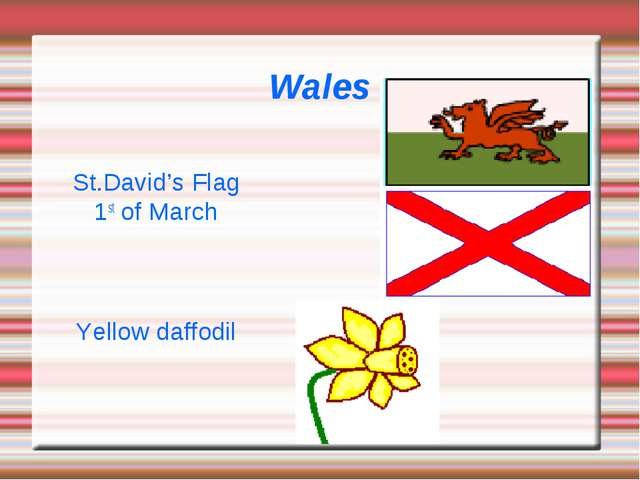 Wales St.David's Flag 1st of March Yellow daffodil