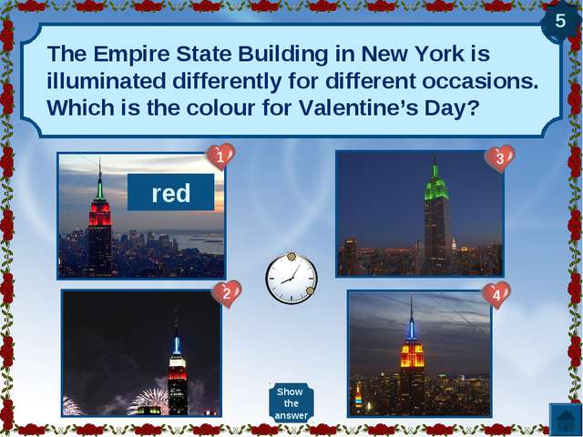 The Empire State Building in New York is illuminated differently for differen...