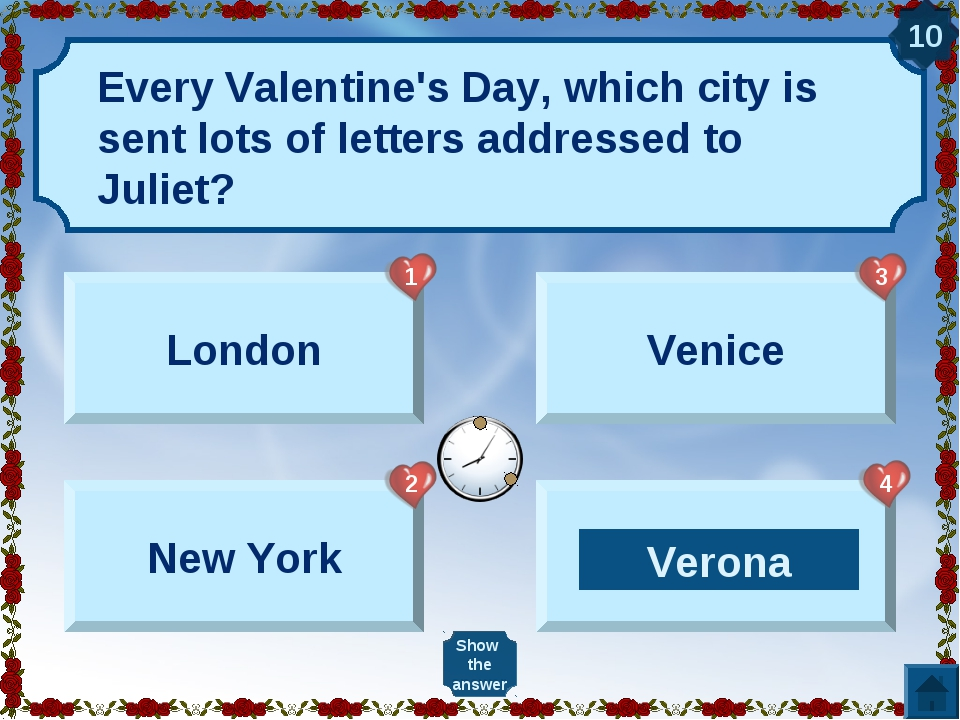 Every Valentine's Day, which city is sent lots of letters addressed to Juliet...
