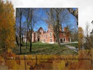 Главный дом-замок усадьбы Пашковых стоит пока в полуразрушенном состоянии.