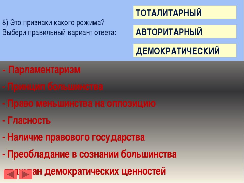 10) Это определение какого политического режима? Выбери правильный вариант о...