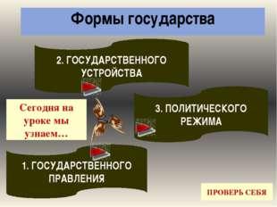 ДОМАШНЕЕ ЗАДАНИЕ: Прочитать §7.4. «Форма государственного устройства и форма
