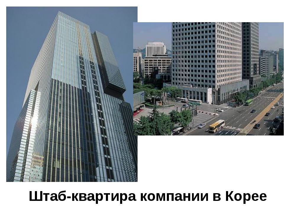 Штаб-квартира компании в Корее