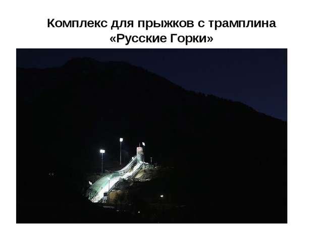 Комплекс для прыжков страмплина «Русские Горки»