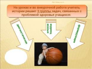 http://aida.ucoz.ru * На уроках и во внеурочной работе учитель истории решает