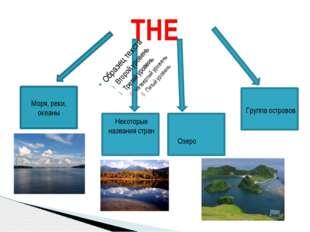 THE Моря, реки, океаны Некоторые названия стран Группа островов Озеро