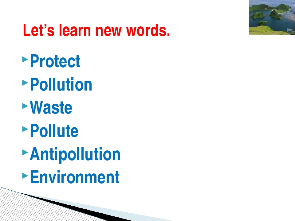 Protect Pollution Waste Pollute Antipollution Environment Let's learn new wor...