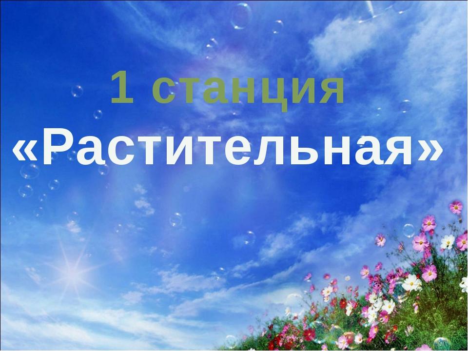 1 станция «Растительная»