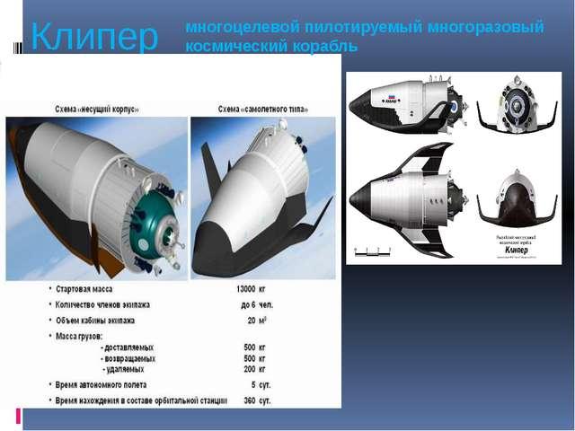 Клипер многоцелевой пилотируемый многоразовый космический корабль