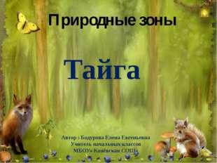 Природные зоны Тайга Автор : Бодурова Елена Евгеньевна Учитель начальных клас