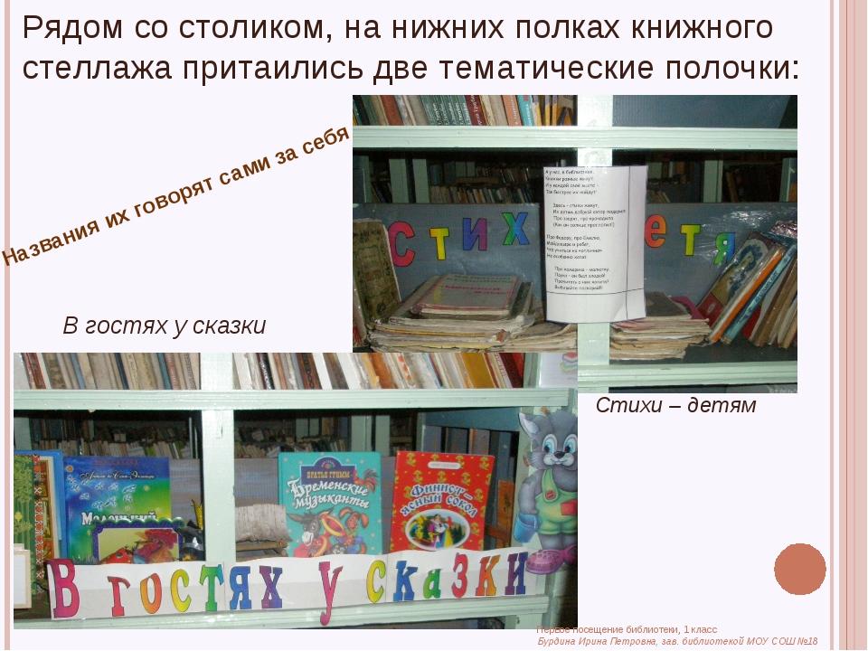 Рядом со столиком, на нижних полках книжного стеллажа притаились две тематиче...