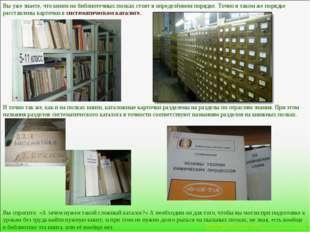 Вы уже знаете, что книги на библиотечных полках стоят в определённом порядке.