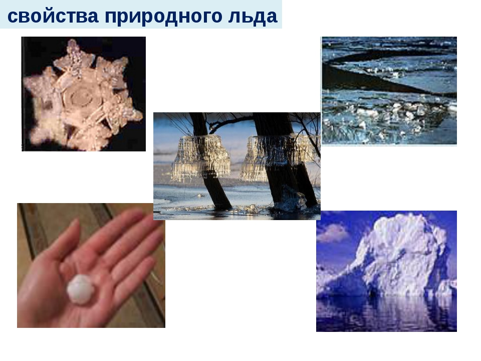 свойства природного льда