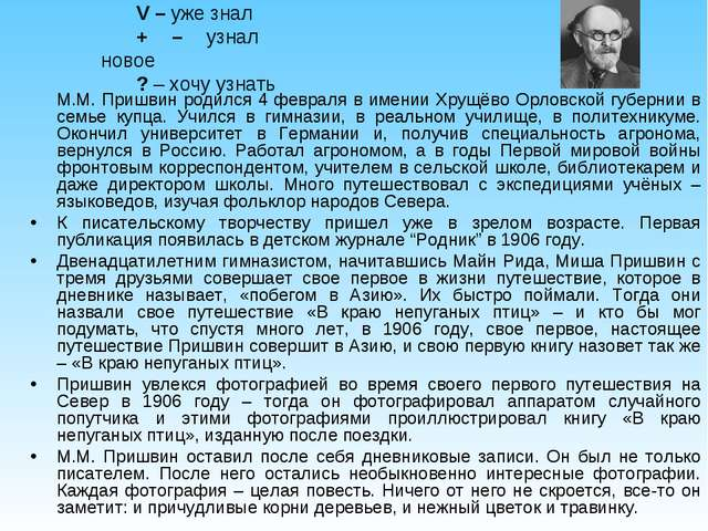 М.М. Пришвин родился 4 февраля в имении Хрущёво Орловской губернии в семье к...
