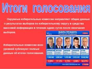 Окружные избирательные комиссии направляют общие данные о результатах выборо