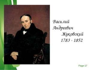 Василий Андреевич Жуковский 1783 - 1852 Free Powerpoint Templates Page *