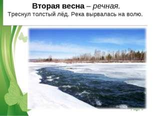 Вторая весна – речная. Треснул толстый лёд. Река вырвалась на волю. Free Pow