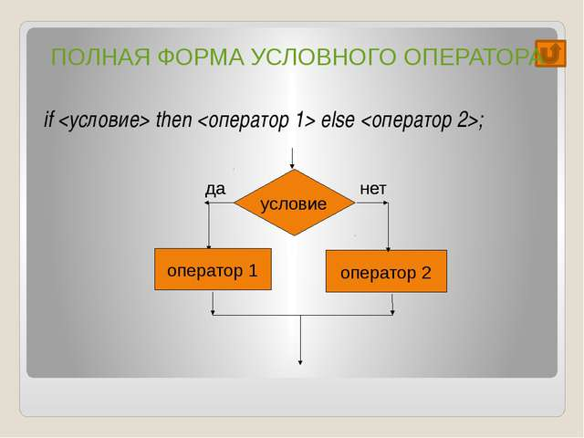 1) a:=3; b:=2; if (a>b) then d:=a else d:=b; Ответ: 	 3 2) a:=-3; b:=2; if (a...