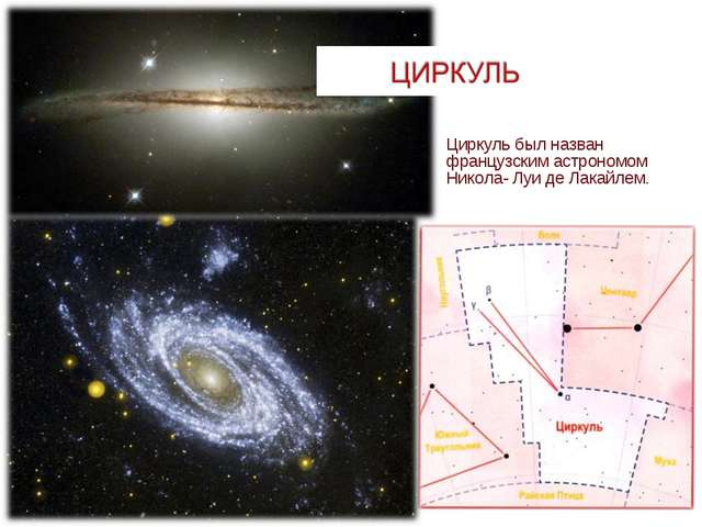 Циркуль был назван французским астрономом Никола- Луи де Лакайлем.