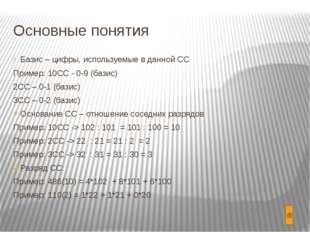Перевод целого числа из 10СС в любую Правило: Исходное 10-ное число делим на