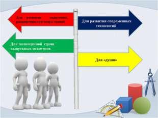 Для развития мышления, расширения кругозора знаний Для полноценной сдачи выпу