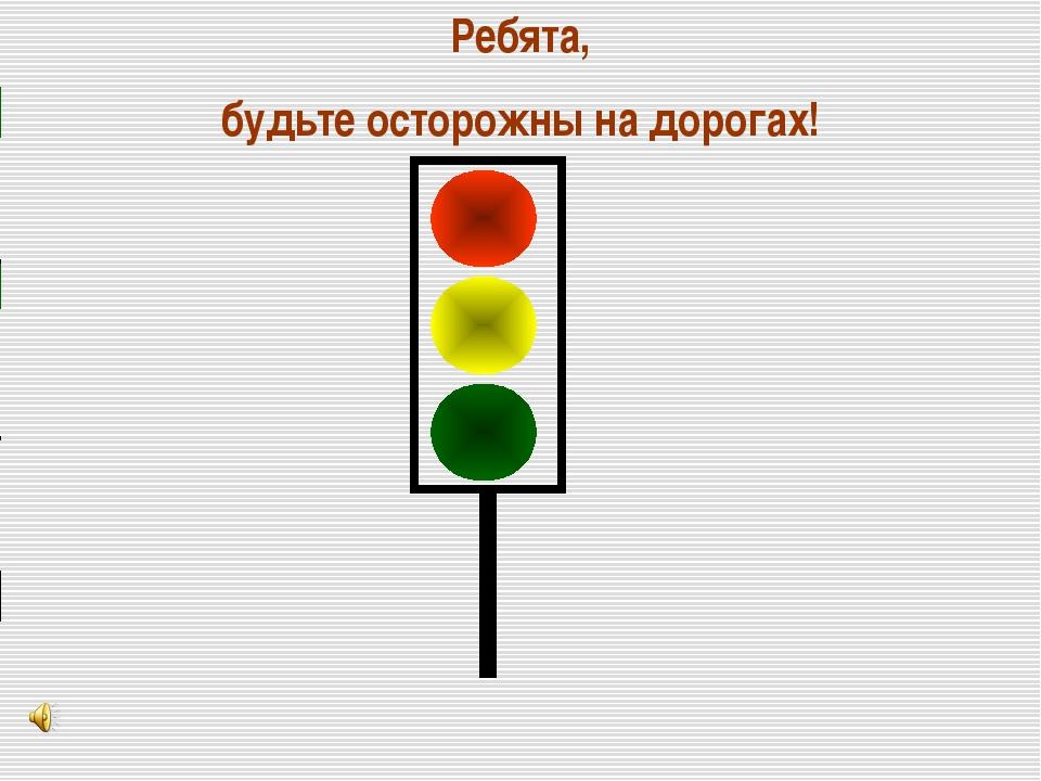 Ребята, будьте осторожны на дорогах!