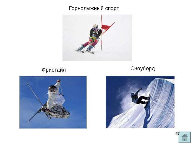Горнолыжный спорт Фристайл Сноуборд *