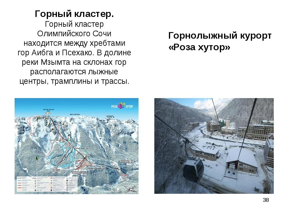 Горный кластер. Горный кластер Олимпийского Сочи находится между хребтами гор...