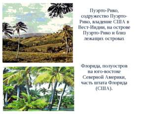 Пуэрто-Рико, содружество Пуэрто-Рико, владение США в Вест-Индии, на острове