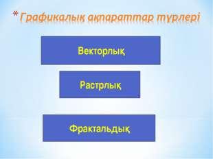 Векторлық Растрлық Фрактальдық