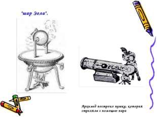 """""""шар Эола"""". Архимед построил пушку, которая стреляла с помощью пара"""