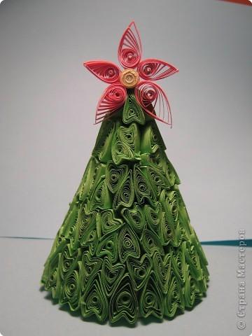 Новогодняя ёлка из квиллинга - Идеи для рукоделия