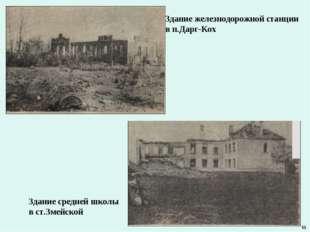 Здание железнодорожной станции в п.Дарг-Кох Здание средней школы в ст.Змейско