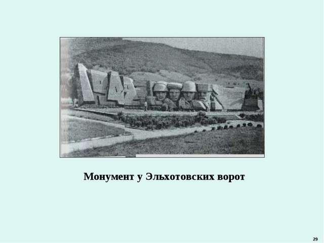 Монумент у Эльхотовских ворот 29