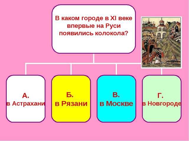 В каком городе в ХI веке впервые на Руси появились колокола?