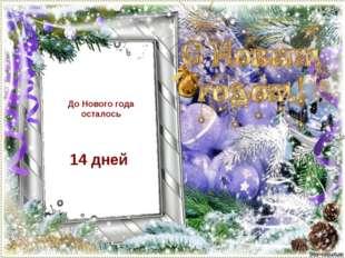 До Нового года осталось 14 дней