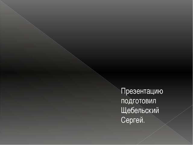 Презентацию подготовил Щебельский Сергей.