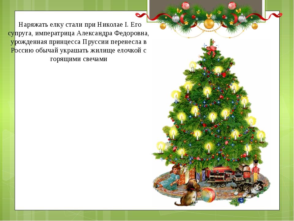 Наряжать елку стали при Николае I. Его супруга, императрица Александра Федор...