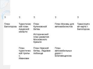 ? ? ? ? ? План Белогорска Туристический план Амурской области План Куликовск