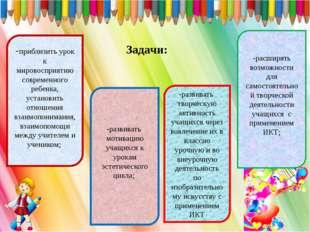 -приблизить урок к мировосприятию современного ребенка, установить отношения