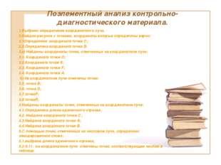 Поэлементный анализ контрольно-диагностического материала. 1.Выбрано определе