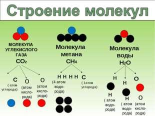 МОЛЕКУЛА УГЛЕКИСЛОГО ГАЗА СО2 о (атом кисло-рода) о (атом кисло- рода) Молеку