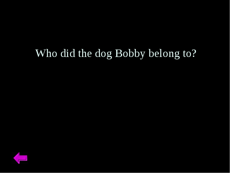 Who did the dog Bobby belong to?